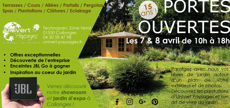 Portes ouvertes Univert paysages évènement pays de gex paysagiste créateur de jardins Gex collonges Saint-Genis-pouilly gex Divonne Ferney-voltaire paysage