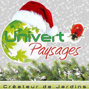 Logo univert paysages paysagiste pays de gex conception de jardin aménagement paysager